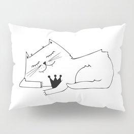 Scandinavian style cat and crown art print Pillow Sham
