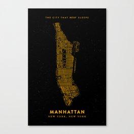 Manhattan Map Canvas Print