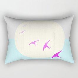 Flying into the Sunset Rectangular Pillow