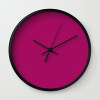 jazzberry blue Wall Clocks featuring Jazzberry jam by List of colors