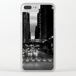 Chicago Noir ... Clear iPhone Case