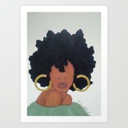 Poised. Art Print