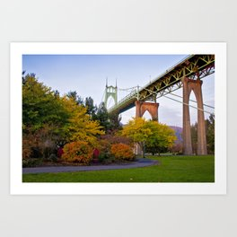 St. Johns Bridge Art Print