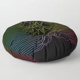 rainbow illustration - sound wave graphic Floor Pillow