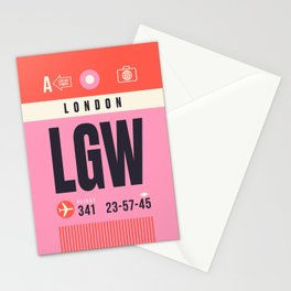 Baggage Tag A - LGW London Gatwick England UK Stationery Cards