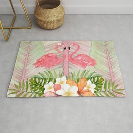 Jungle Pals Series - Flamingo Pair Rug