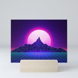 Retro Vaporwave Mountain Mini Art Print