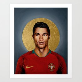CR7 - Football Icon Art Print