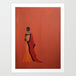 Maasai Princess - Original Acrylic on Canvas Artwork Art Print