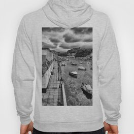 West Looe River in Black and White Hoody