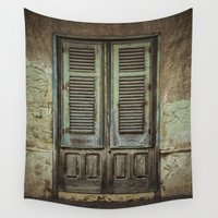 door Wall Tapestries featuring Italian Door III by Maria Heyens