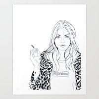 Kate M. X Supreme Art Print