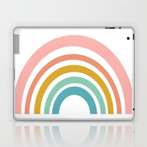 Simple Happy Rainbow Art Laptop & iPad Skin