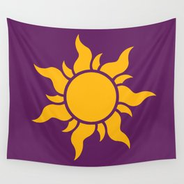Tangled Rapunzel Sun Logo - Corona Symbol Wall Tapestry