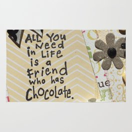 All you need in life is chocolate_yellow Rug