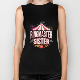 Circus Carnival Birthday Sister Party Apparel Biker Tank