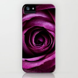 Aubergine Rose iPhone Case