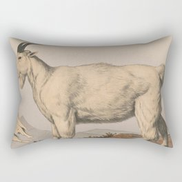 Vintage Illustration of a Goat (1874) Rectangular Pillow