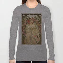Vintage poster - Woman with flowers Long Sleeve T-shirt