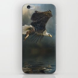 Bald Eagle Fishing iPhone Skin