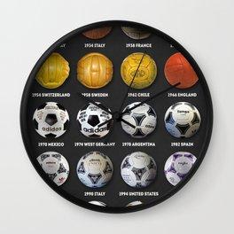 The World Cup Balls Wall Clock