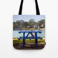 relax Tote Bags featuring Relax! by Chris' Landscape Images & Designs