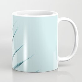Blue Palm Leaf Coffee Mug