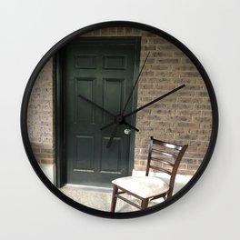 The dark door Wall Clock