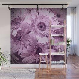 Lavender Floral Up Close Shot Wall Mural