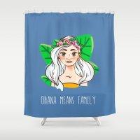 ohana Shower Curtains featuring Ohana by Jessi's Art