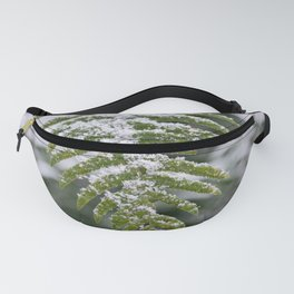 Fern Forest Winter Pacific Northwest Snow II - Nature Photography Fanny Pack