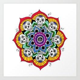 mandalavera de colores Art Print