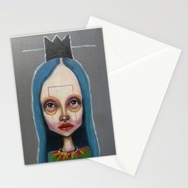 black crown Stationery Cards