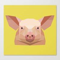 pig Canvas Prints featuring Pig by Alysha Dawn