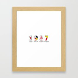 1987 - NAVY - My Year of Birth Framed Art Print