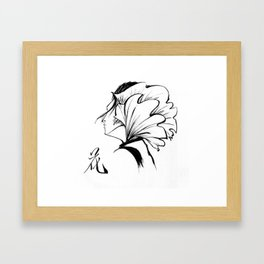 Fashion Ink Portrait illustration Framed Art Print