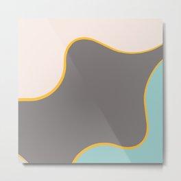 Abstract painting, beautiful dark woman, modern home decoration, geometric wall art Metal Print