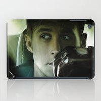 ryan gosling iPad Cases featuring Ryan Gosling - Drive by Helena McGill