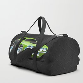 Classic Seventies Style American Muscle Car Cartoon Duffle Bag