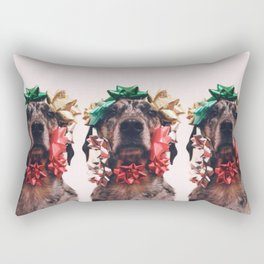 Bows and Mutts Rectangular Pillow