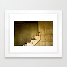 Stairs to? Framed Art Print