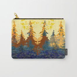 Spruce Trees Forest Browns-sage Green Modern Landscape Carry-All Pouch
