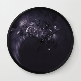 Waves in Space Wall Clock