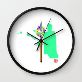 Strong  Spear of Hawaii Ali'i Wall Clock