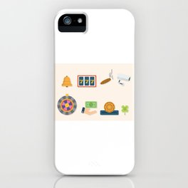 Cash, Roulette, Partying & Poker - Nevada Day iPhone Case