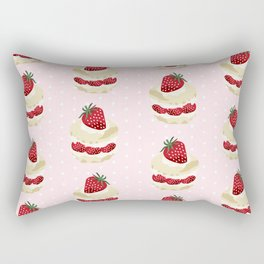 Fruit Shortcake dessert food apparel and gifts food fight Rectangular Pillow