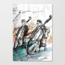 Two Contrabass Canvas Print