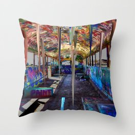 Bustalactites Throw Pillow