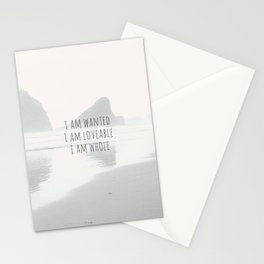 I WANTED, LOVABLE & WHOLE. Stationery Cards