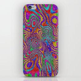 Psychedelic Rainbow Glitter Bomb iPhone Skin
